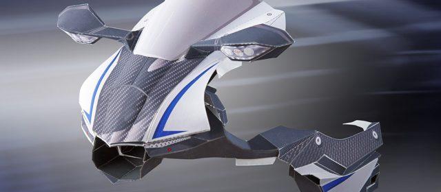 1 2 3 4, Yamaha R1M van Papier